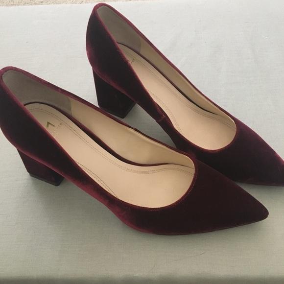 c85b68006c Marc Fisher Shoes   Zala Block Heel Wine Velvet Pumps   Poshmark